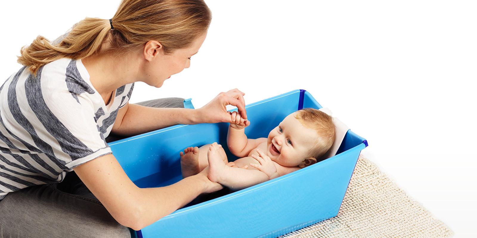Stokke Flexi Bath Newborn Support for Foldable Baby Bath Tub ...