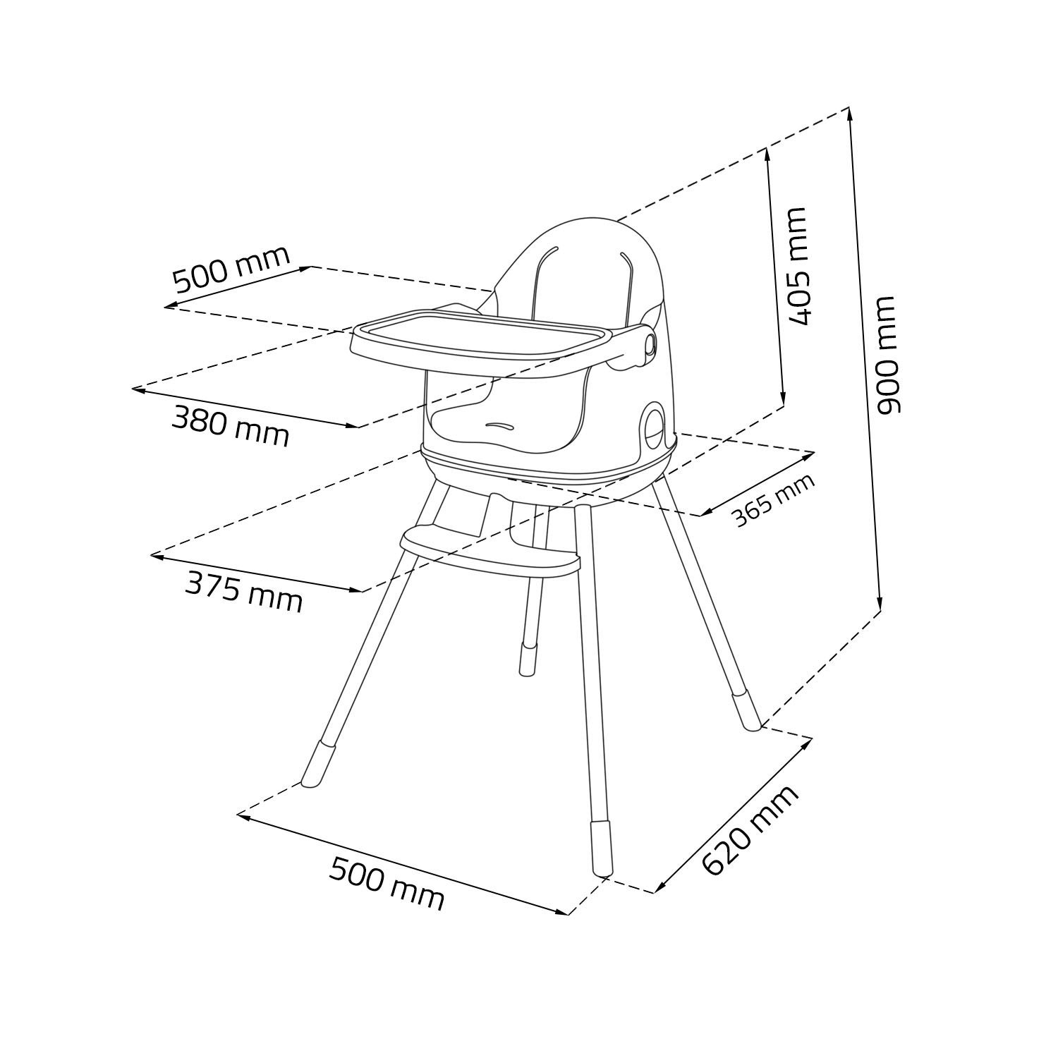 Keter Multi Dine 3 In 1 High Chair 6m 48m Santorini