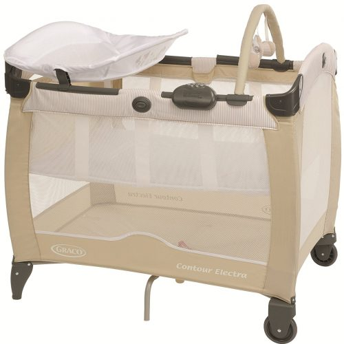 Graco Contour Electra Travel Cot. The Graco Contour Electra travel cot is suitable from birth and is a practical and comfortable bed for your baby. The Contour Electra travel cot features a bassinette which is ideal for newborns