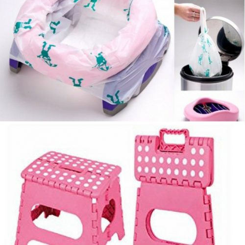 Travel Potty and folding step stool
