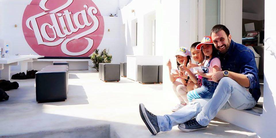 Homemade gelato and warm family memories in Santorini