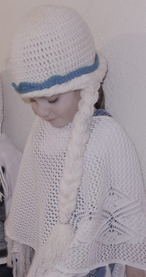 Frozen, Elsa, Handmade girl crochet beanie. All H.U.G.S products are 100% made by hands to order, ensuring high quality yarns, unique statement designs and the most fashionable colors