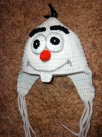 Frozen, Olaf, Handmade unisex crochet beanie All HUGS products are 100% made by hands to order, ensuring high quality yarns, unique statement designs and the most fashionable colors.