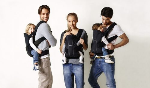 Ergonomic baby carrier with many features